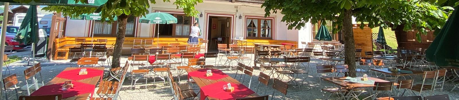 Biergarten in Schönau am Königssee